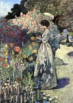 'The four gardens' by Handasyde, illustrated by Charles Robinson. Published 1912 by William Heinemann, London.