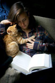 The best way to read a Deputy Ricos novel is with a kitty!  #garciabooks http://www.elizabethagarciaauthor.com/