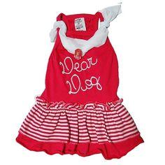 Vestido para Cachorro para Cachorro Babadinhos Broche Pink Dear Dog - MeuAmigoPet.com.br #petshop #cachorro #cão #meuamigopet