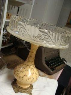 Great Idea for repurposing lamp bases...   serving plate!