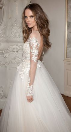 Winter Wedding Dresses to help cold-weather brides stay warm ~ Berta Bridal Fall 2015