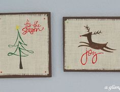Burlap Christmas Art