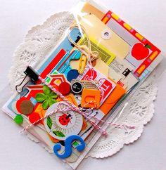Teacher School / Paper Scrap Pack / DIY Kit