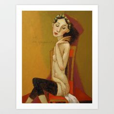 LA GIMNASTE Art Print by Svetlana Kurmaz - $25.00