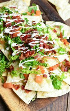 BLT Nachos with Homemade Baked Cool Ranch Tortilla Chips. BLT Nachos with Homemade Baked Cool Ranch Tortilla Chips Recipes Cuisine : Recipe Yields : Prep time : – Keywords : , Ingredients 4 medi. Doritos Recipes, Blt Recipes, Healthy Salad Recipes, Appetizer Dips, Appetizer Recipes, Taco Salad Doritos, Doritos Casserole, Homemade Tortilla Chips, Tortilla Wraps