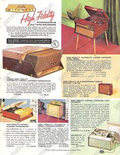 1957 Print Ad, Mitchell Phonographs