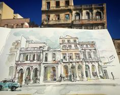 """itasablerThe dilapidated beauty of Havana. The Building in the middle missing most of its windows is quite ironically called """"Edificio Fortuna"""""""