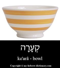 """How to say """"Bowl"""" in Hebrew. Click here to hear it pronounced by an Israeli: http://www.my-hebrew-dictionary.com/bowl.php"""