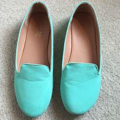 Robins egg blue flats Super cute little flats. Size 8.5 but run a little small Shoes Flats & Loafers