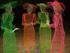 Chicken Wire Sculptures -Halloween ghosts