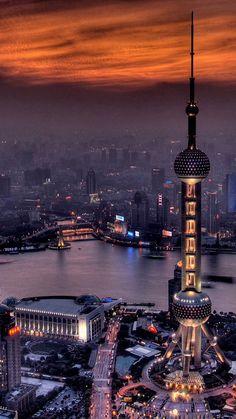 The Shanghai China night scene Night Aesthetic, City Aesthetic, Shanghai Night, Shanghai City, Beijing, Beautiful World, Beautiful Places, Night City, China Travel