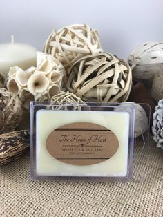 A personal favorite from my Etsy shop https://www.etsy.com/listing/593117706/white-tea-sage-leaf-wax-melt