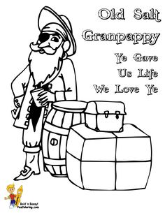 this is a pirate grandfather for your fathers day coloring picture collection