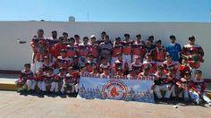 CHAMPOTON, CAMPECHE.- ( John Rosado/Liga Champoton ).- Todo un exito resulto la participacion de la Escuela de Beisbol Medias Rojas de Champ...