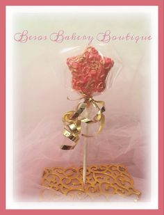 12 Sparkle Star cake pops by BesosBakeryBoutique on Etsy