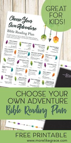 Choose Your Own Adventure Bible Reading Plan - Free Printable | More Like Grace