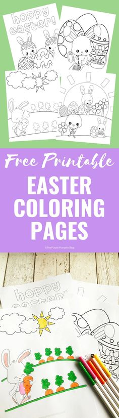 Keep the kids occupied while they are waiting for a visit from the Easter Bunny with these Free Printable Easter Bunny Coloring Pages. Easter Bunny Colouring, Bunny Coloring Pages, Colouring Pages, Free Coloring, Valentine's Day Printables, Hoppy Easter, Easter Food, Easter Ideas