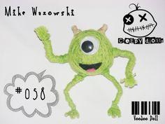 Mike Wazowski Monsters Inc. Disney Pixar #058 String Doll / Voodoo Doll