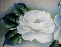 Pintura em Tecido Passo a Passo: Como pintar Rosa Branca