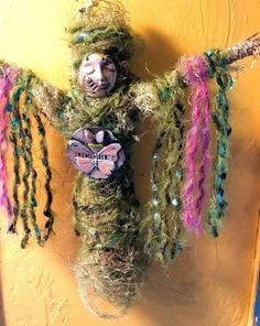 """Your energy is a form of currency, spend it wisely."" Image: Nature Moss Spirit Doll made with rescued Designer Fabrics and Trims ♥ lis Wicca, Pagan, Larp, Spirited Art, Goddess Art, Voodoo Dolls, Paperclay, Doll Tutorial, Assemblage Art"