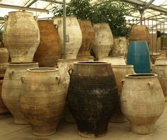 Antique Greek oil jars http://www.eyeofthedaygdc.com/#/products/planters-and-pots/antiques/