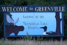 taken by me, summer 2011 greenville maine Moosehead Lake Maine, Greenville Maine, List Of Cities, Visit Maine, New England States, Lake Mountain, Whitewater Rafting, Acadia National Park, Lake Life
