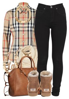 """""""11/11/13"""" by oh-aurora ❤ liked on Polyvore featuring Burberry, ASOS, H&M, Dr. Denim and UGG Australia"""
