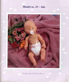 Album Archive - Dukketøj til Baby Born 2 - Ingelise Knitting Dolls Clothes, Doll Clothes Patterns, Clothing Patterns, Pet Toys, Barbie Dolls, Knitting Patterns, Archive, Teddy Bear, Album