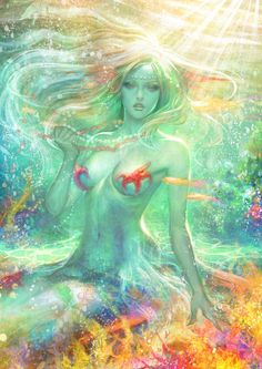 "Pisces:  ""Summer #Mermaid,"" by Angju, at deviantART."