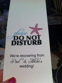 Door hangers! :  wedding blue door hangers embossing navy oot bags starfish Door Hangers 2