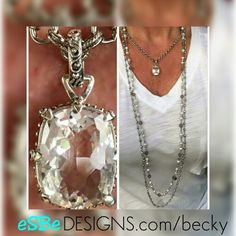 Sterling silver and clear quarts...magnificient