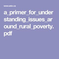 a_primer_for_understanding_issues_around_rural_poverty.pdf