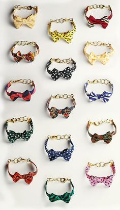I luv these!! I want the black n white polka dot!! #bow tie rings