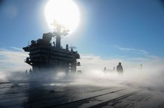 Image of the Day: USS Theodore Roosevelt Firefighting Test