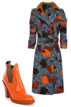 Burberry Prorsum Kendra coat, $3595, net-a-porter.com; Acne star boots, $570, matchesfashion.com.   - HarpersBAZAAR.com