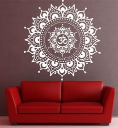 Decorate your yoga space with lotus meditation mandala pattern wall yoga art stickers available in different colors, styles and sizes. Only $24.76. #YogaStickers #MeditationStickers #YogaArt #MandalaMagikDeals