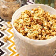 Homemade Caramel Corn - this recipes makes a huge batch, perfect for sharing. If it makes it that long.