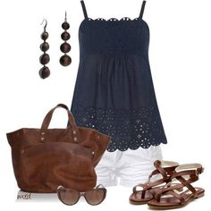 Women's Outfits Trends...- love the top but would pair it with crops