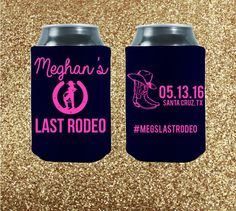 Throwing a bachelorette party? Make sure the bride has a fun time! Bachelorette koozies are the best party favors for your party! Choose from our awesome koozies and let's start celebrating!   Customized  Last Rodeo  Bachelorette Party by StripedPeanut