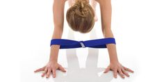 Downward Dog with our BRAND NEW Moonbeam STRETCH Strap!