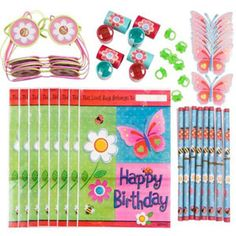 Garden Party Favour Value Pack for a Girls Birthday Party
