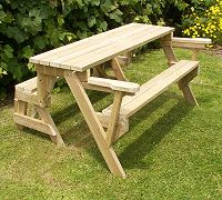 folding picnic table in table position - plans available for purchase