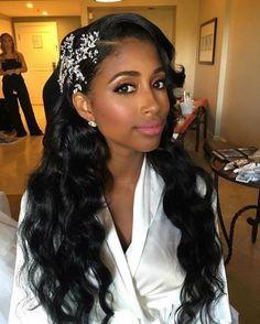 50 Best Eye-Catching Long Hairstyles for Black Women | Long weave ...