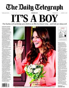 Newspapers for 23rd of July 2013 #DuchessKate   #RoyalBaby  #PrinceGeorgeOfCambridge