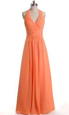 Halter Chiffon Bridesmaid Dress FDA0194