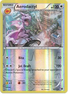 Aerodactyl 76/124 XY Fates Collide, Reverse Holo Pokemon Card