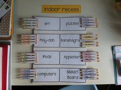Indoor Recess Chart