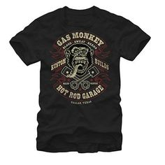 7c689e590a5b7c Gas Monkey Garage Blood Sweat Beers Black T-Shirt