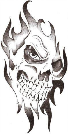 new black tribal skull tattoo design - tattoo skull drawing Cool Skull Drawings, Badass Drawings, Skull Artwork, Dark Art Drawings, Tattoo Design Drawings, Skull Tattoo Design, Pencil Art Drawings, Skull Design, Skull Tattoos