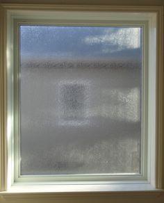 White Vinyl Window Fixed Obscure Glass Rainglass